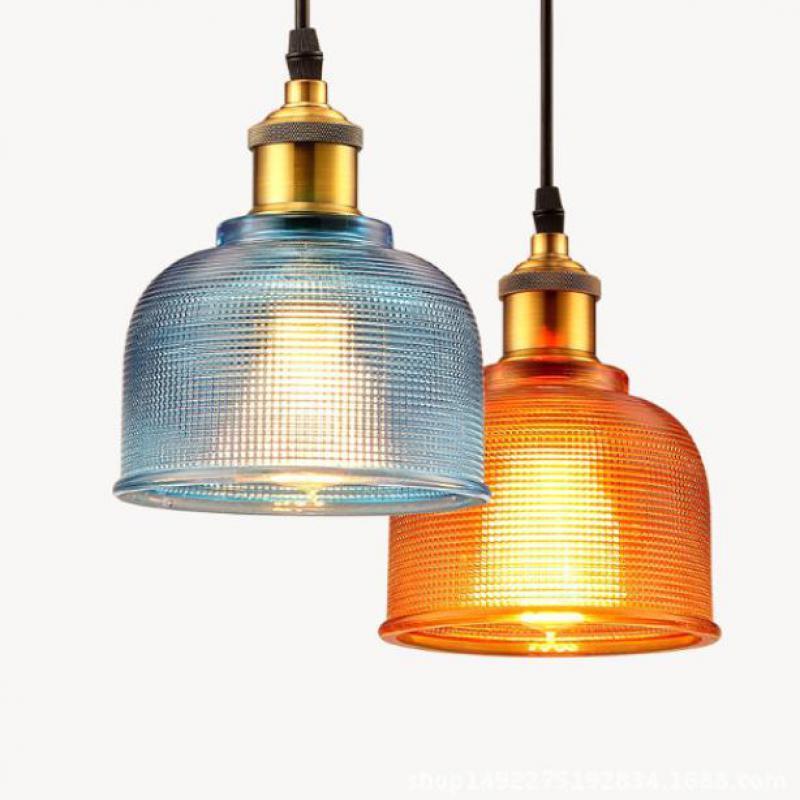 Glass Candy Shade Single Head Pendant Light Nordic Modern Creative Fashion Pendant Lamps Decoration Indoor Lighting