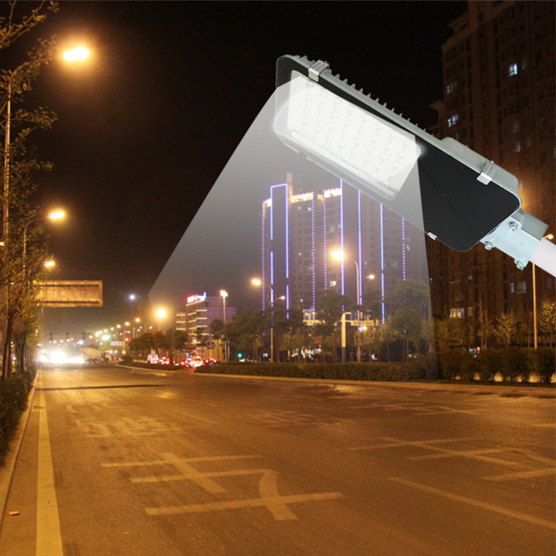 Top Quality 50W LED Street Light Road Outdoor Yard Garden Lamp Head Better Dustproof and Weatherproof