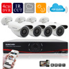 SUNCHAN 4CH 1MP HD AHD CCTV Camera 720P 24 Leds Night Vision Outdoor Indoor Security Camera