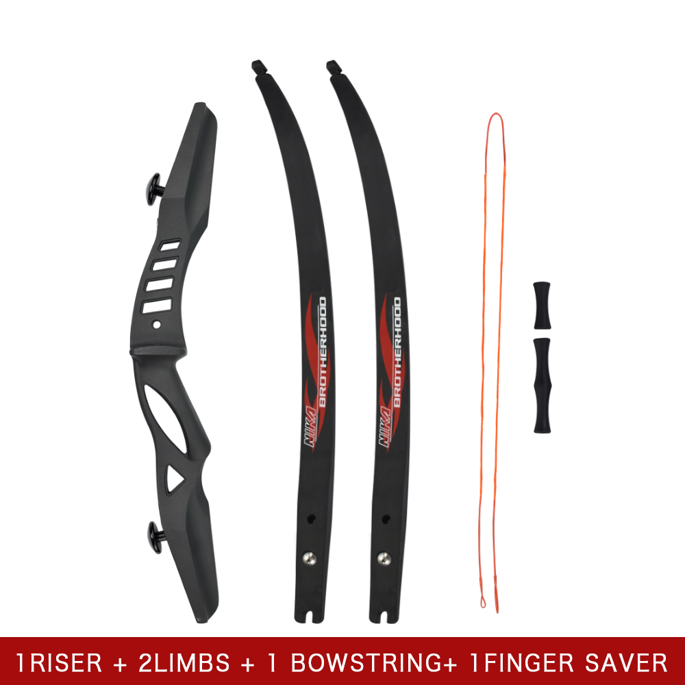 60 Recurve Bow ILF Limbs 15-25lbs Hunting Shooting Youth Practise Archery Bow Outdoor 54 youth bow