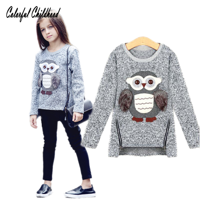 67a41c4ee67d Spring Autumn fashion girls sweaters kids fleece lined zipper ...