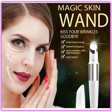 Electric Vibration Infrared Heating Therapy Eye Massager Face Lifting Ionic Wrinkle Dark Circle Remover Beauty Skin Care Pen