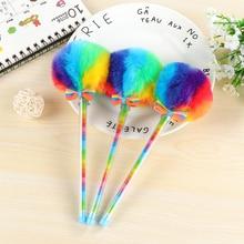 1Pcs Cute Gel Pen Colorful Pen Fountain Black Ink Color Pen office & school supplies pen gel stationery pen korean stationery цена 2017