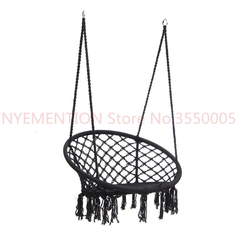 Style nordique hamac rond extérieur intérieur dortoir chambre chaise suspendue pour enfant adulte balançoire unique sécurité hamac 1 pièces