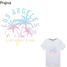 Prajna Iron On Transfers For T Shirt Clothing Leaf Letter Patch Fabric Hot Heat Transfer Paper Vinyl Applique paste Easy Print