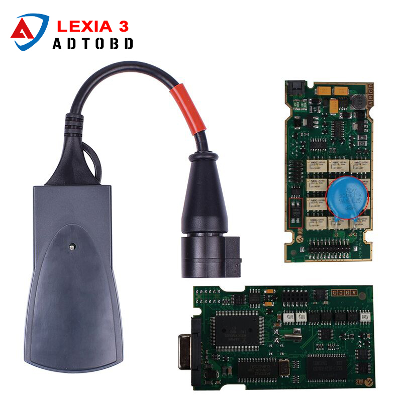 Prix pour Meilleure qualité A + Lexia Plein Puce Lexia 3 V48 Diagbox V7.83 PP2000 V25 Lexia3 Firmware 921815C Pour Citroen pour Peugeot
