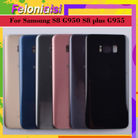 battery samsung galaxy 10Pcs/lot For Samsung Galaxy S8 G950 G950F SM-G950F S8+ Plus G955 G955F SM-G955F Housing Battery Door Rear Back Glass Cover Case (2)