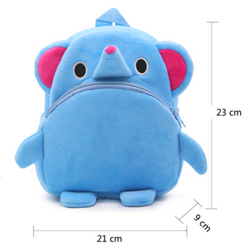 4-Colors-Plush-Backpacks-Cartoon-Kids-School-Bags-Toys-Cute-Animal-Lovely-Kindergarten-Children-Storage-Box-Doll-1-3-Year-old-2
