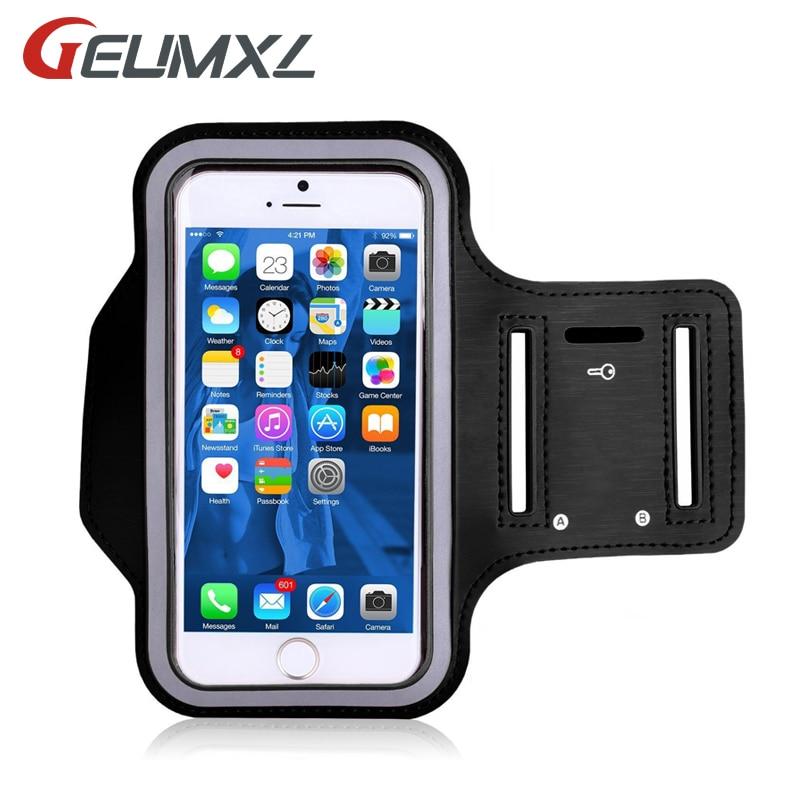 GEUMXL спортивные повязки чехол для iPhone x 8 5S 6s 6s 7 Plus Сумка для бега спортивный держатель мобильного телефона светоотражающие браслет Фитнес