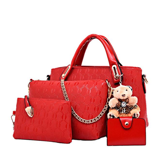 LUDESNOBLE Bags Handbags Women Famous Brands Shoulder Bag Women Leather Handbags Shoulder Bag Female Bags Set bolsa feminina