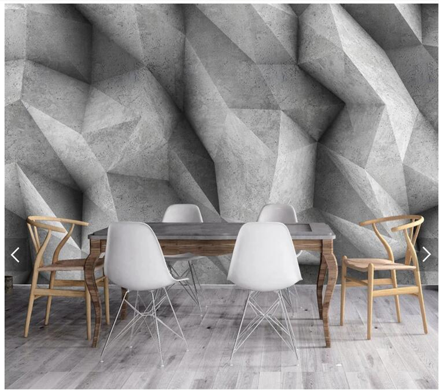 Custom Modern Geometric Wallpaper 3d Square Cement Wall Painting For Living Room Bedroom Sofa Background Wall Papel De Parede A426