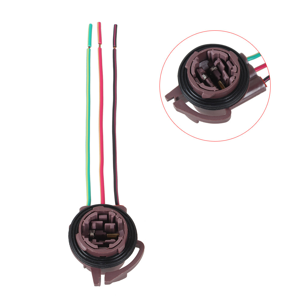 3157 Wedge Bulb Sockets Harness Wire Led Light Socket Automobile Wiring Height Escrow