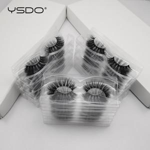 Image 5 - 30 pairs/pack 3D Mink Lashes with tray no box full strip lashes wholesale natural long false eyelashes makeup cruelty free lash
