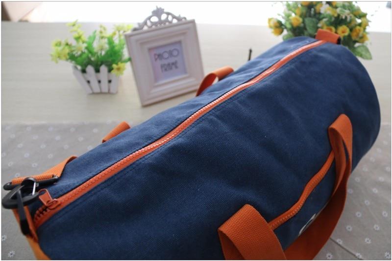 Большой емкости холст цилиндрическая Спортивная Сумка для спортзала Бренд Mulifunctional вещевой плечо фитнес мешок спортивная Сумка мужчины женщины AC05