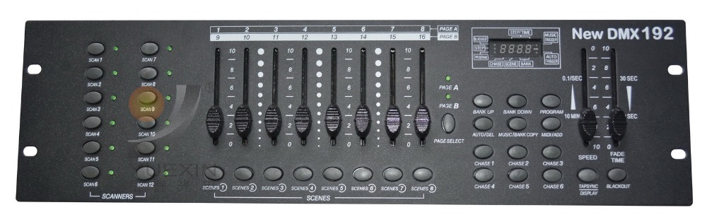 New 192 DMX controller, for stage lighting 512 dmx console DJ controller equipment Free shipping dmx 512 controller 192 dmx controller for stage lighting 512 dmx console dj controller equipment