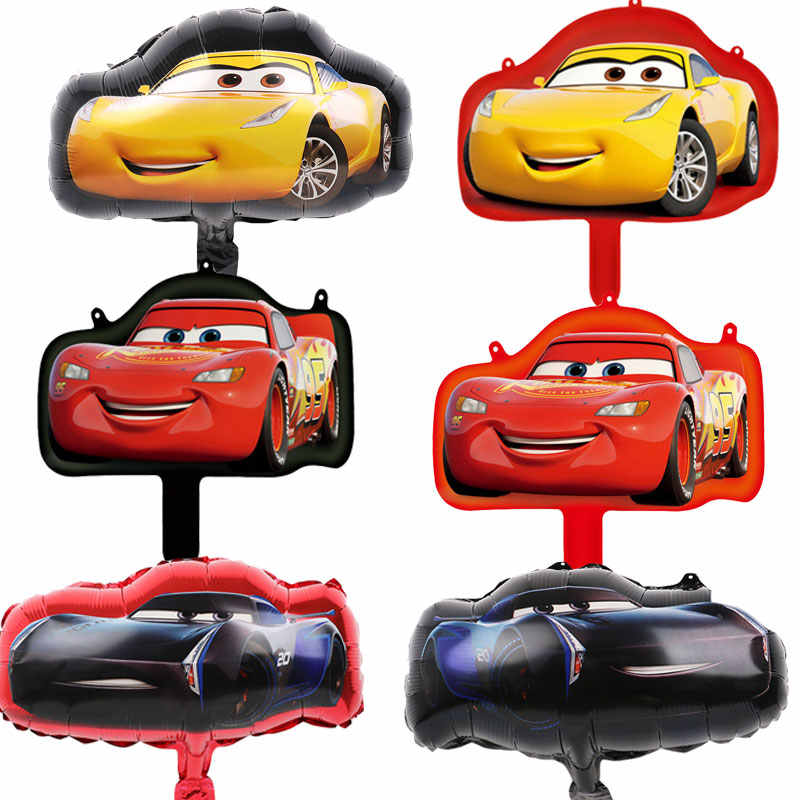 10pcs Mini Mcqueen car foil balloons Disney balloon Baby shower boy love Racing car globos birthday party decorations kids toys
