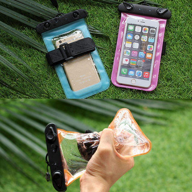 Waterproof 5.5 Inch Bag Mobile Phone Pouch Underwater Dry Case Cover For Snorkling Rafting Fishing Swimming Drifting Canoe Kayak