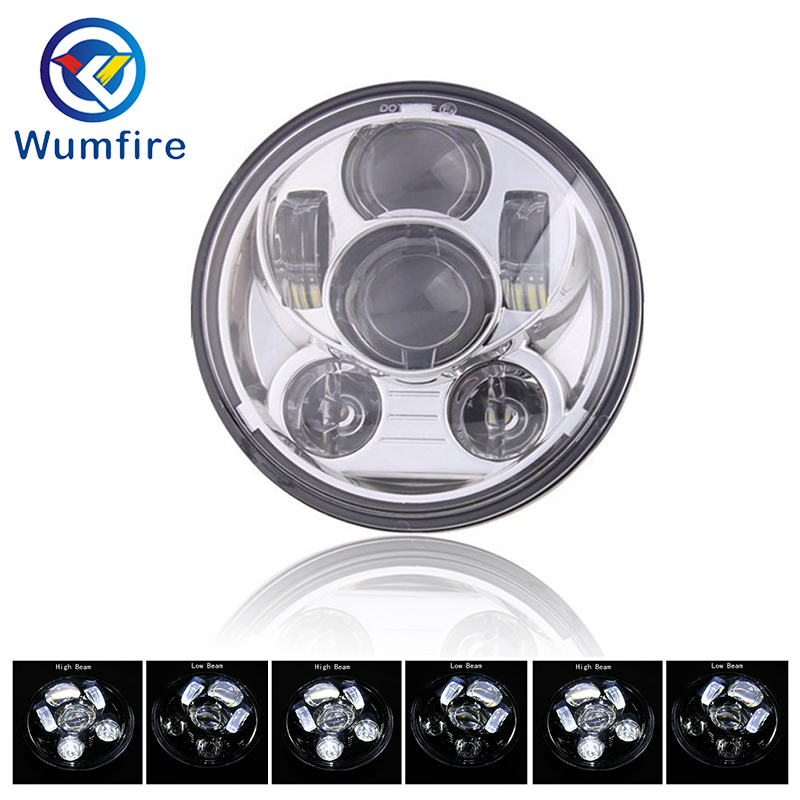 5.75 5 3/4 LED Motorcycle Headlight Black For Sportster 1200 XL1200L Custom XL1200C 883 XL883 883L XL883R
