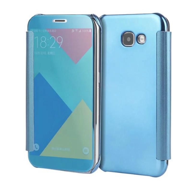 For <font><b>Samsung</b></font> A7&#038;A5&#038;<font><b>A3</b></font> 2017 Flip <font><b>Case</b></font> Fashion Design Acrylic <font><b>Phone</b></font> Shell Top Quality Luxury Mirror Slim <font><b>Case</b></font> Cover A720 A520 A320