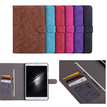 Retro PU Leather Case Cover for Huawei Mediapad M3 8.4 inch Stand Holder Case for MediaPad M3 BTV-W09/DL09 8.4 with Card Slot