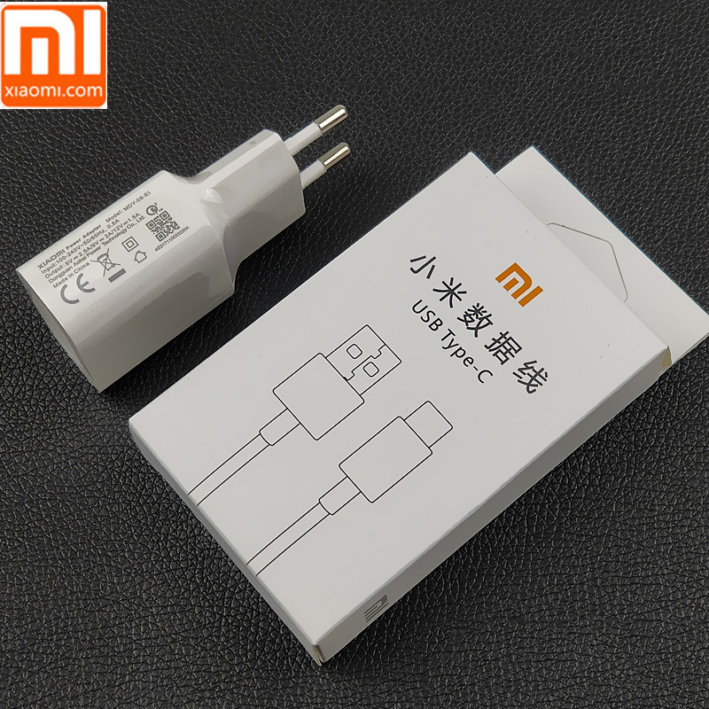 Original Xiaomi Mi 9 Fast Charger Qc 4.0 27w Usb Wall Quick Charge Adapter Usb 3.1 Data Cable For Mi9 Se Mi 8 7 F1 Mix 2 2s 3 Mobile Phone Chargers