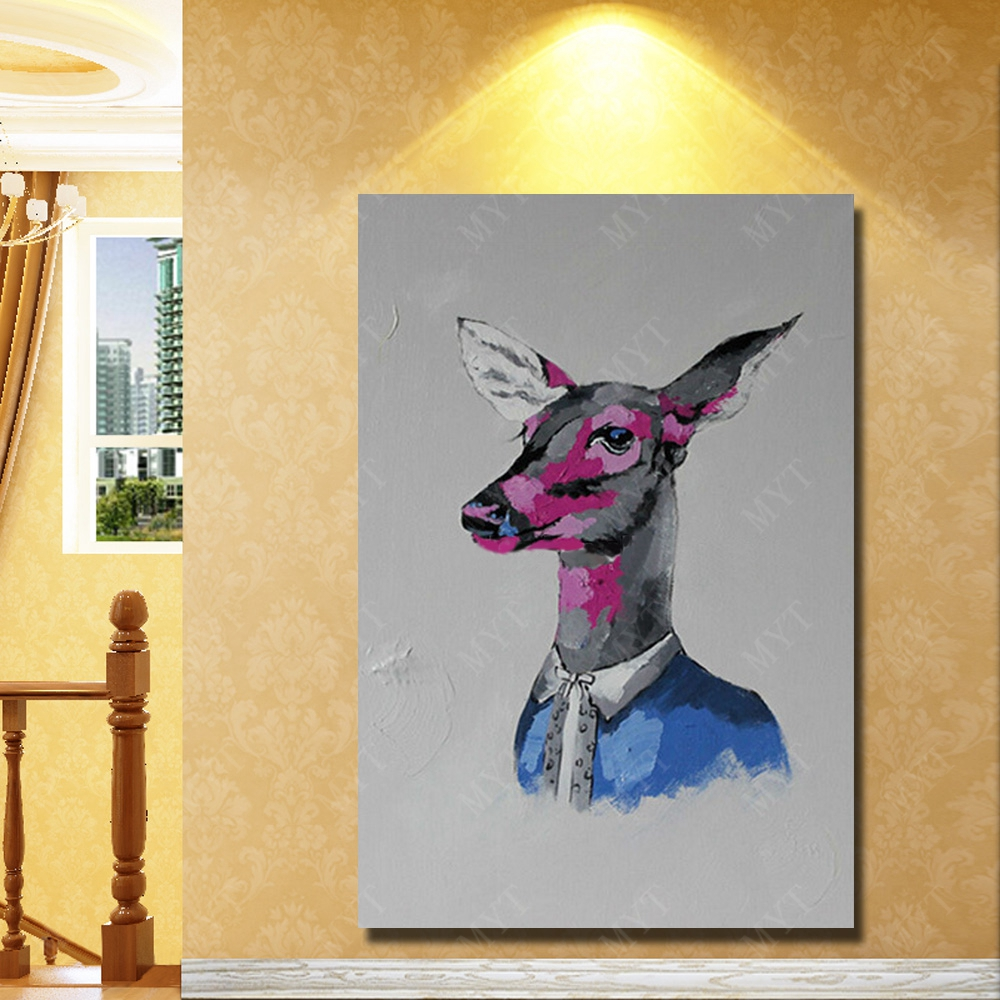 Sika Deer decorative head wall decorations hand painted animal head ...