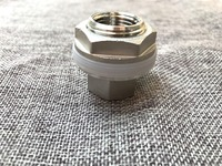 Compact Weldless Bulkhead All Stainless Construction High Temperature Food Grade Silicone Gasket Free Shipping