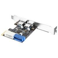 2 Ports 5Gbps PCI-E zu USB 3.0 Expansion Karte Adapter für Win XP/7/8/10 AC328 8 DJA99