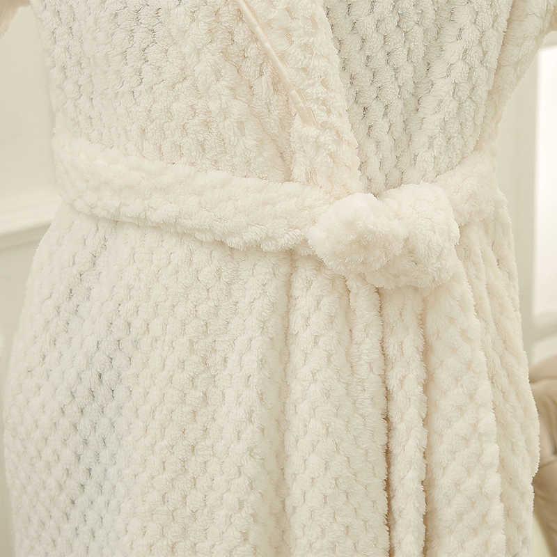 に販売の男性フルスリーブロング着物浴衣厚い熱バスローブ男性ドレッシングガウンサンゴフリースローブメンズラウンジナイトウェア