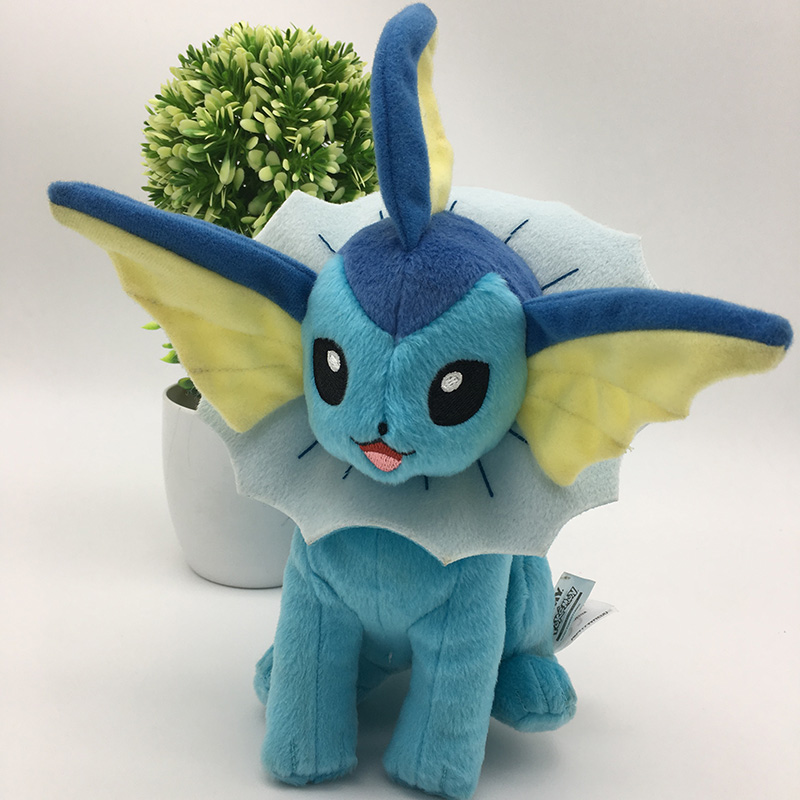 2018 New Anime Characters Vaporeon Plush Toys 25cm Soft PP Cotton Stuffed Animals Toy Cartoon Baby Toys Action Figure Dolls