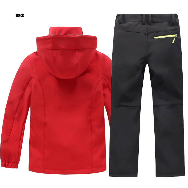 THE ARCTIC LIGHT Winter Waterproof Outdoor Camping Windproof Skiing Hiking Pant Soft Shell Jackets Kids Fleece Sport Wear in Hiking Jackets from Sports Entertainment