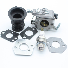 цены CARBURETOR Intake Manifold Spark Plug For STIHL Chainsaw 021 023 025 MS210 MS230 MS250 Walbro WT 286 Zama C1QS11E #1123 120 0603