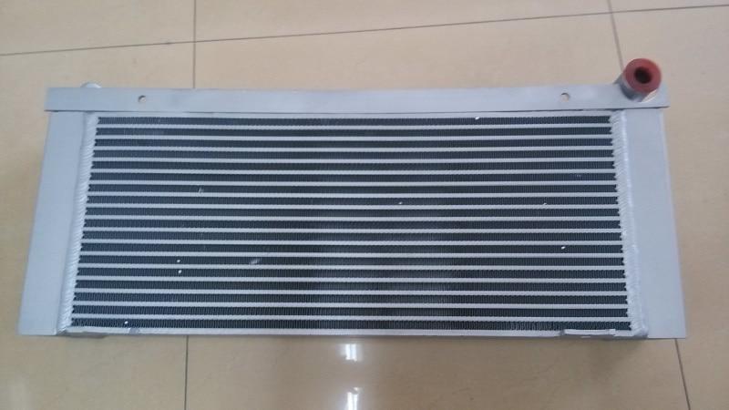 Silvery aluminum plate fin combined air cooler 1202973500=1202973900 for GA18 Screw Air Compressor wjier black aluminum plate fin combined air cooler 1622319100 for ga37 75 screw air compressor
