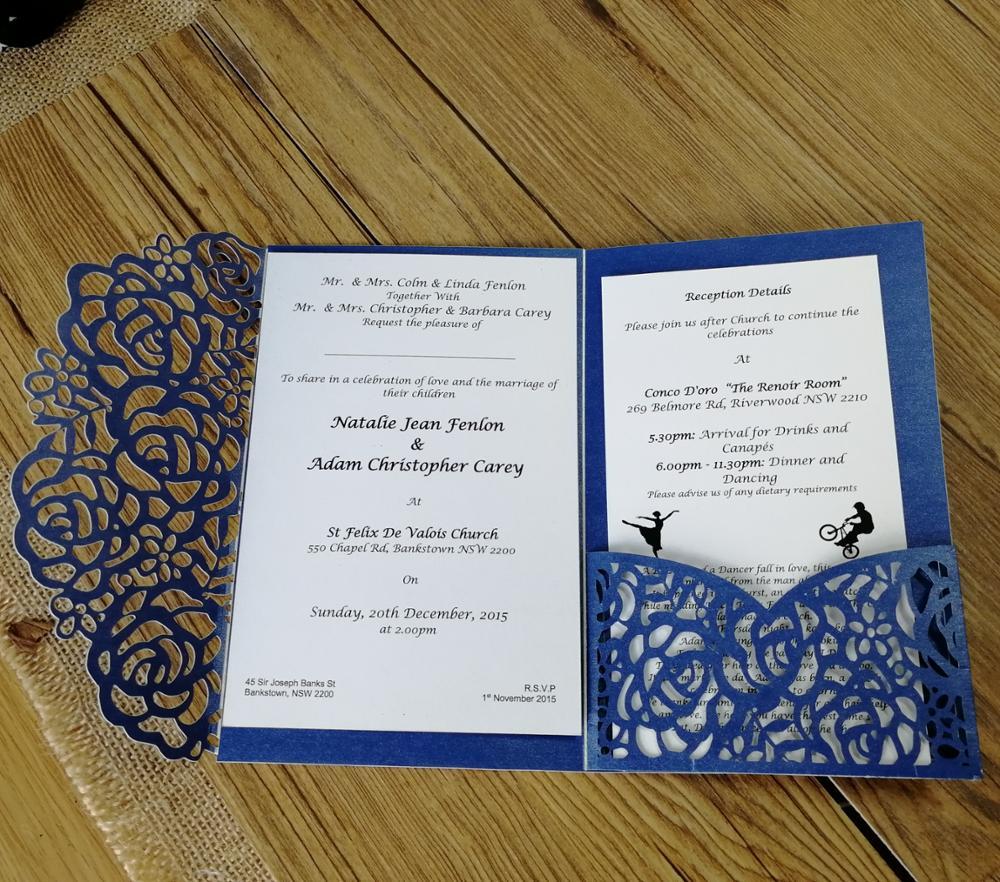 30pcs laser engraved or print custom acrylic wedding invitation card ...