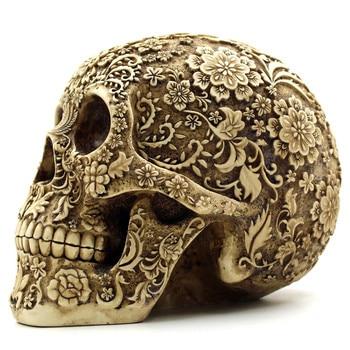 BUF Resin Craft Skull Statues & Sculptures Garden Statues 1