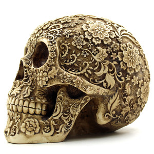 Image 2 - BUF Resin Crafts Retro Skull Sculptures Home Decoration Ornaments Creative Art Carving Statue