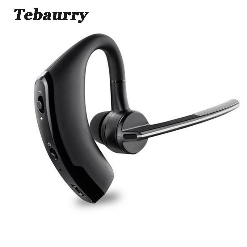 Tebaurry V8 Business Bluetooth Earphone Sport Wireless Bluetooth Headset Bass Earbuds Music Earphone Voice control with