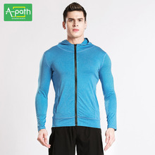 A path Mens Sport Running Jacket Tights Jersey 2017 Tracksuit Jogging Men Hoodies Quick Dry Fitness