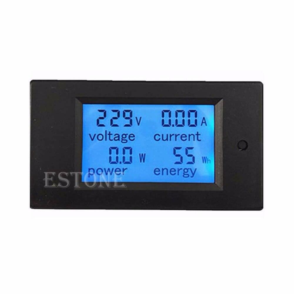 lcd digital volt watt power meter ammeter voltmeter ac 80 260v 20a Free delivery LCD Digital Wattmeter Volt Watt Power Ammeter Voltmeter AC 80-260V 20A Trajectory New 2017