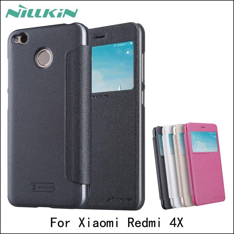 Case For Xiaomi Redmi 4X NILLKIN Sparkle Case For Redmi 4X Luxury Fashion PU Leather Cover
