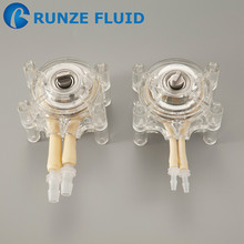 Low Pressure Silicon/Rubber Tubing Peristaltic Pump Head Anti Slightly Corrosive Liquid