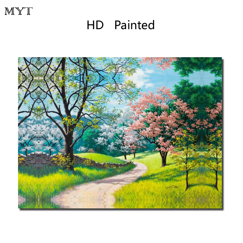 Fashion hot sale HD Printed Painting Home Decor Art Picturere Spring scenery for bed room living room No Framed or Diy Framed