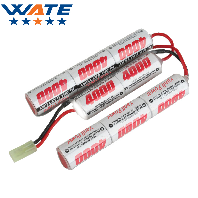 9.6V 4000mAh 15C Ni-MH battery Triplets  Toys Ni-MH batteries long strip type High power electric SC model battery 3pcs high quality 15 6v 3300mah ni mh replacement power tool battery for metabo bsp15 6plus bs 15 6 plus bst 15 6 plus