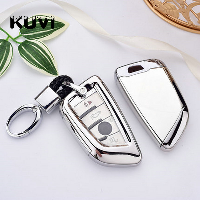 PC+TPU Car Key Case Key Cover Key Shell Protector for BMW X5 F15 X6 F16 G30 7 Series G11 X1 F48 F39 Accessories Car Styling image
