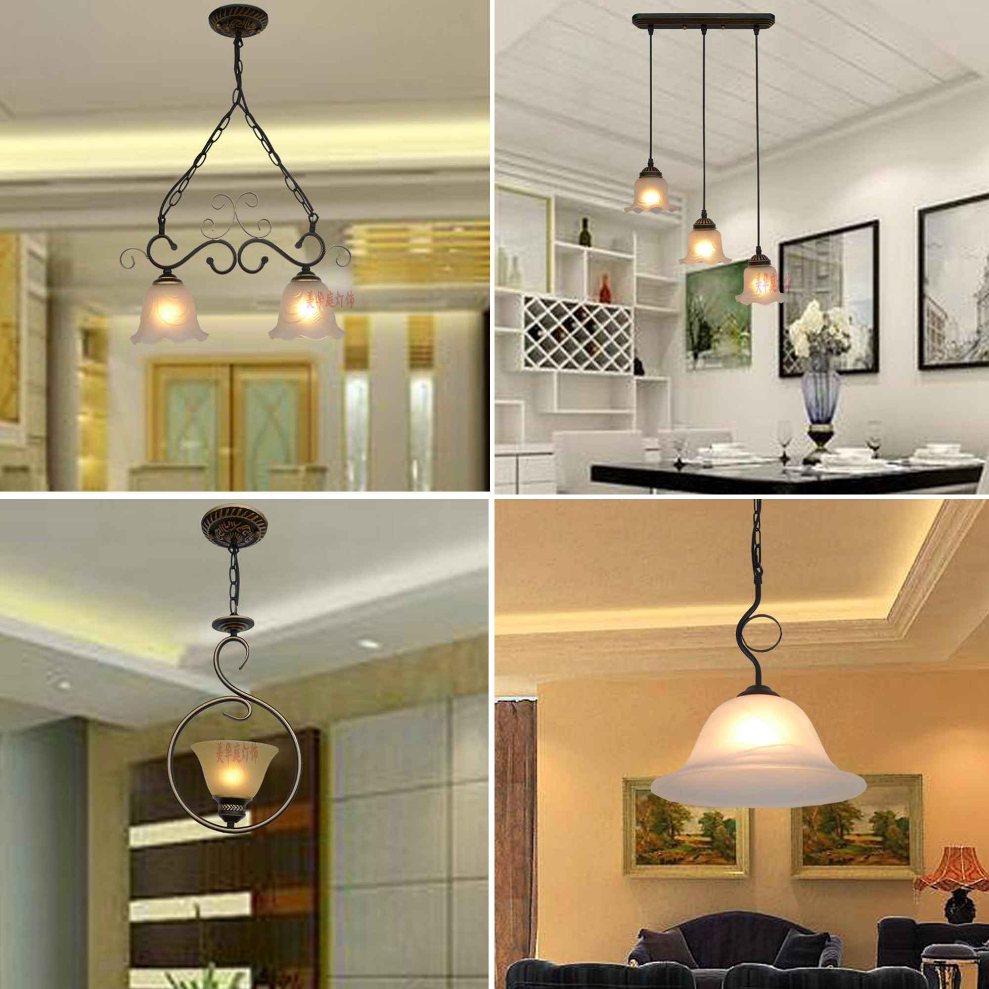 HGhomeart Home Lighting Retro Iron Led Pendant Light Lamp 110-220V E27 Dining Room Lights Luminaria Vintage Loft Lamp Fixtures new chinese style vintage pendant lights wood and bamboo for dining room hotel hall home loft led pendant lamp light ac110v 220v