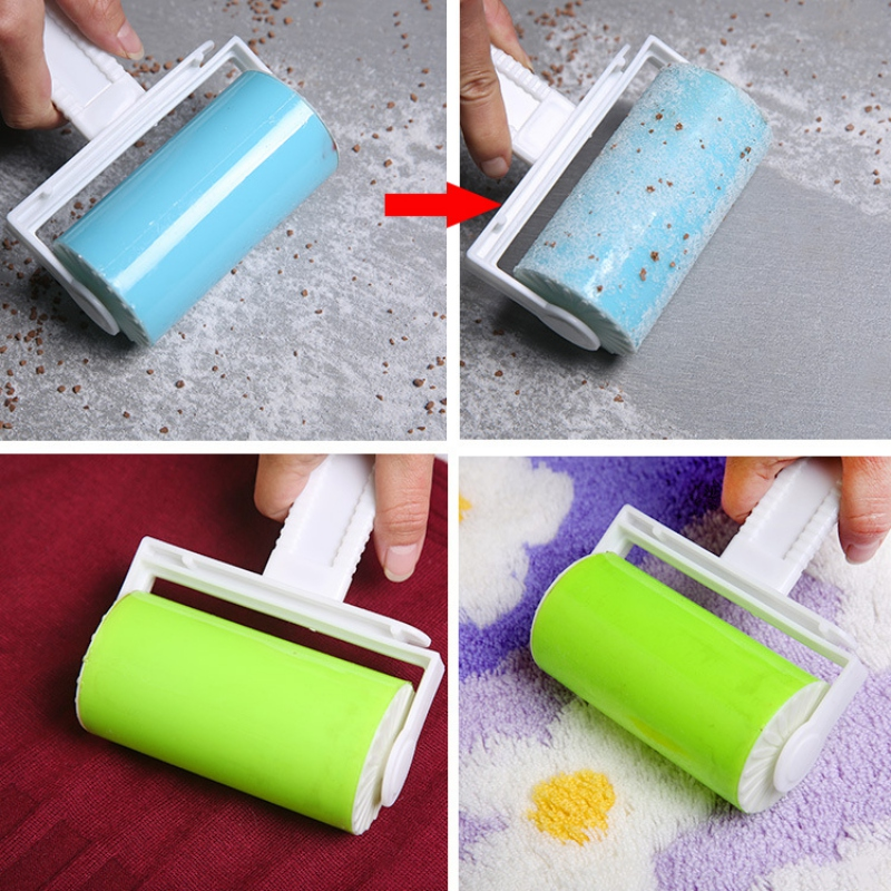 Washable Sticky Hair Clothes Buddy For Wool Dust Catcher Carpet Sheets Sucking Sticky Dust Drum Lint Rollers House Clean Tools A