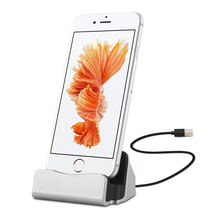 3 in 1 Function Charger Dock Station for iPhone 7 6s 6 Plus Desktop Charging Sync Stand Holder for iPhone 5s 5c 5 SE