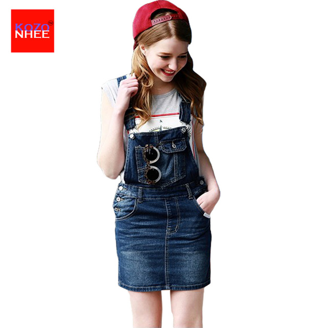 Aliexpress.com : Buy Summer Overalls Denim Skirts High School Mini ...