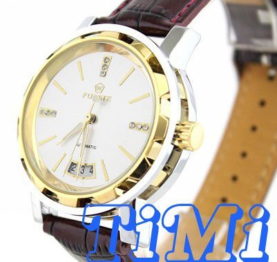 wholesale Fashion Gold Date Auto Mechanical Men Diamond Watch New  HOT