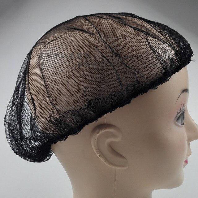 5pcs Stretchable Wig Cap Black Hairnets Nylon Hair Weaving Cap